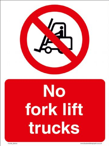 No fork lift trucks